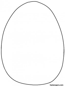 Printable blank Easter egg to decorate coloring pages ...