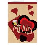 Bee Mine, Sweet Valentine Greeting Card
