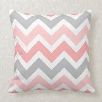 Pinks, Gray, White Zigzag Chevron Pattern