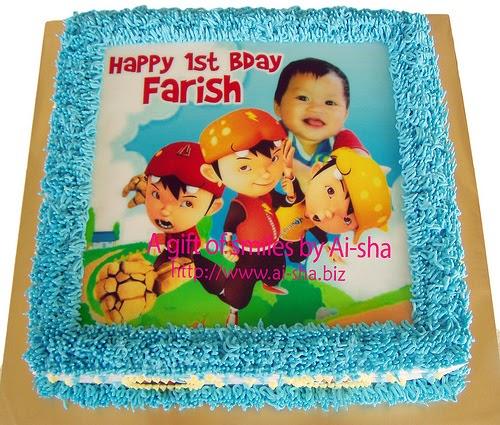 Birthday Cake Edible Image Boboiboy Kek Harijadi Ulang