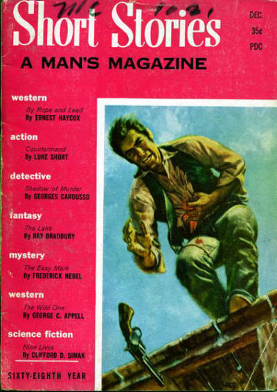 1957 Dec issue of Short Stories mix of reprints and originals, new publisher (Leo Margulies) and editor (Cylvia Kleinman)