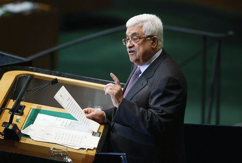 Palestinian Authority President Mahmoud Abbas addressing the United Nations General Assembly on September 27, 2012. Abbas says he is seeking recognition by the world body of Palestine as a nonmember state. by Pan-African News Wire File Photos