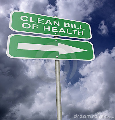 Image result for bill of health