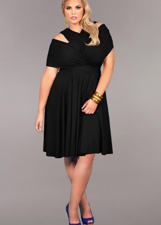 cute black dresses for plus sizes  pluslookeu collection