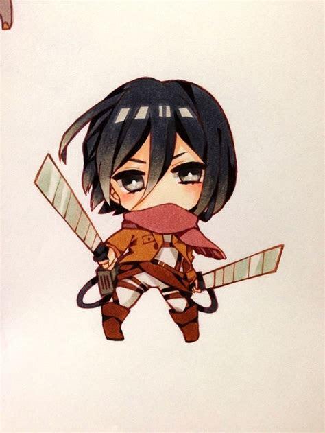 mikasa ackerman chibi pinterest anime chibi style