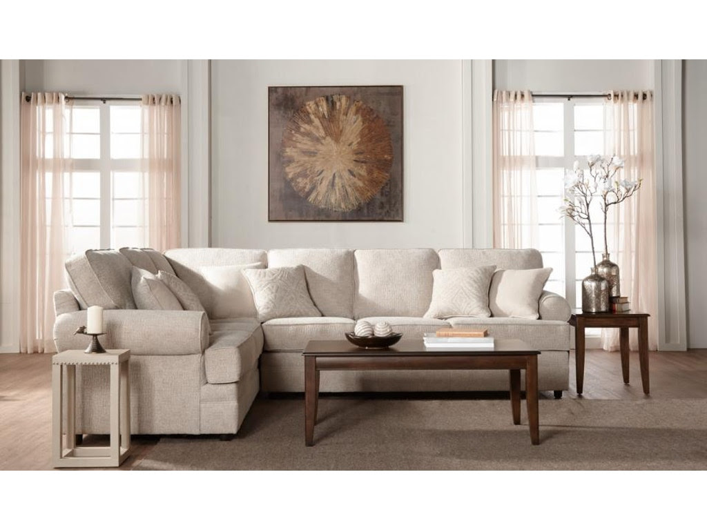 Hughes Furniture Living Room 13100 Sectional - Arthur F ...