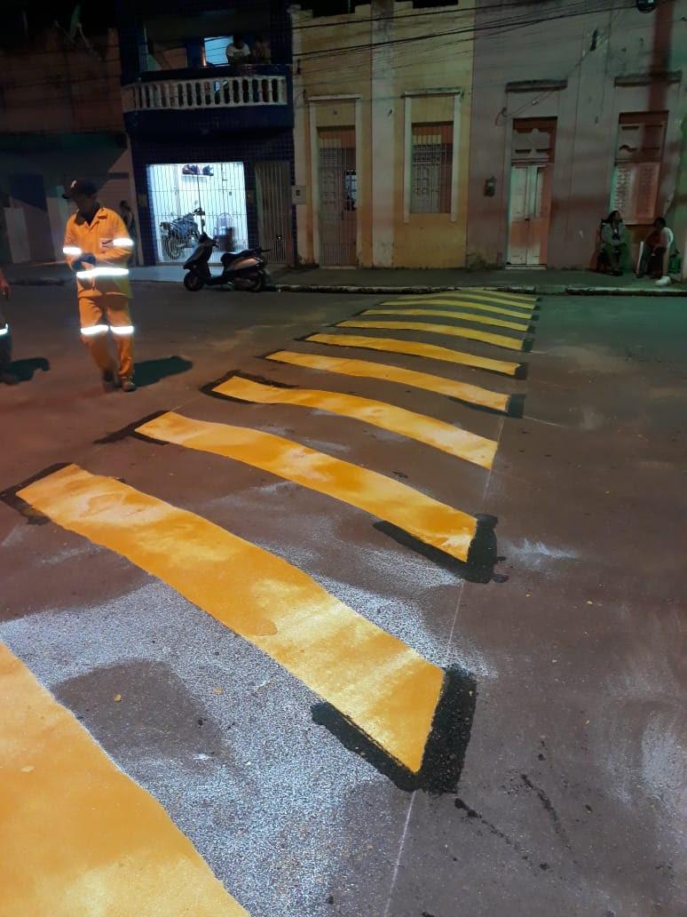 Prefeitura de Goiana inicia sinalização de trânsito horizontal