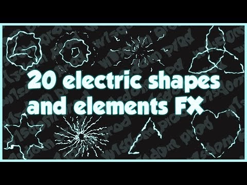 ⚡ 20 Electric Shapes and Elements VFX | Flash, Energy 2D Cartoon Animated Effects