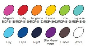 Dina Wakley Color Swatches