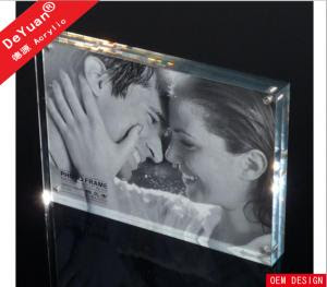13 X 20cm Double Sided Clear Acrylic Photo Frames Durable Luster Of