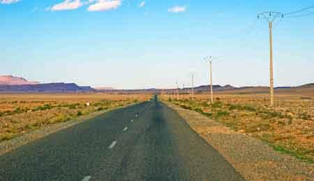 Route de Teneghir - sud du maroc