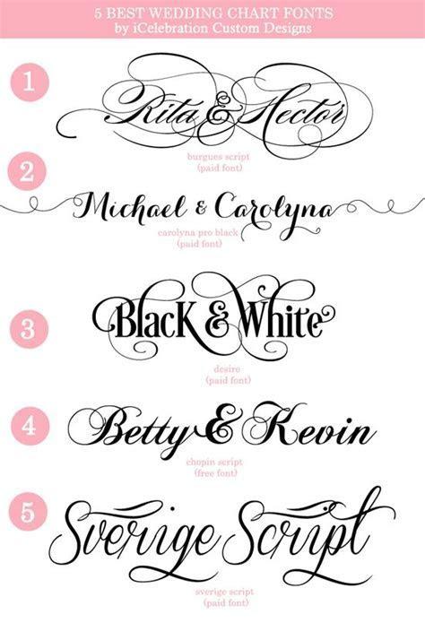 5 Best Wedding Chart Fonts   Custom Wedding Charts   Fonts