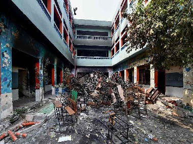Schools were also vandalised in violence affected areas. PTI