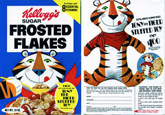 Frosted Flakes cereal box