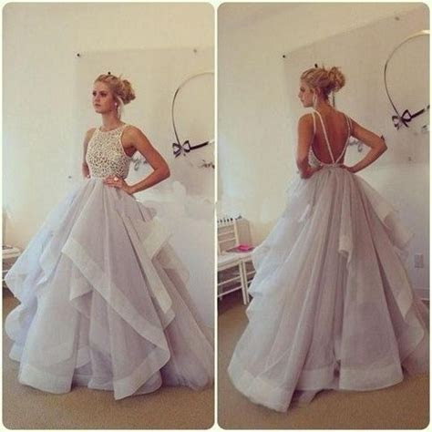 long prom dress, fluffy prom dress, party prom dress, prom