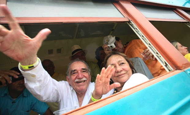 Gabriel García Márquez and his wife, Mercedes Barcha