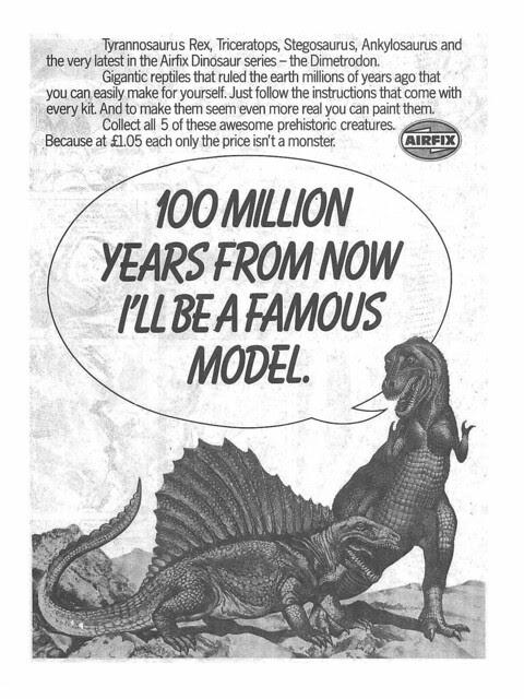 Airfix Dinosaurs Ad 1979