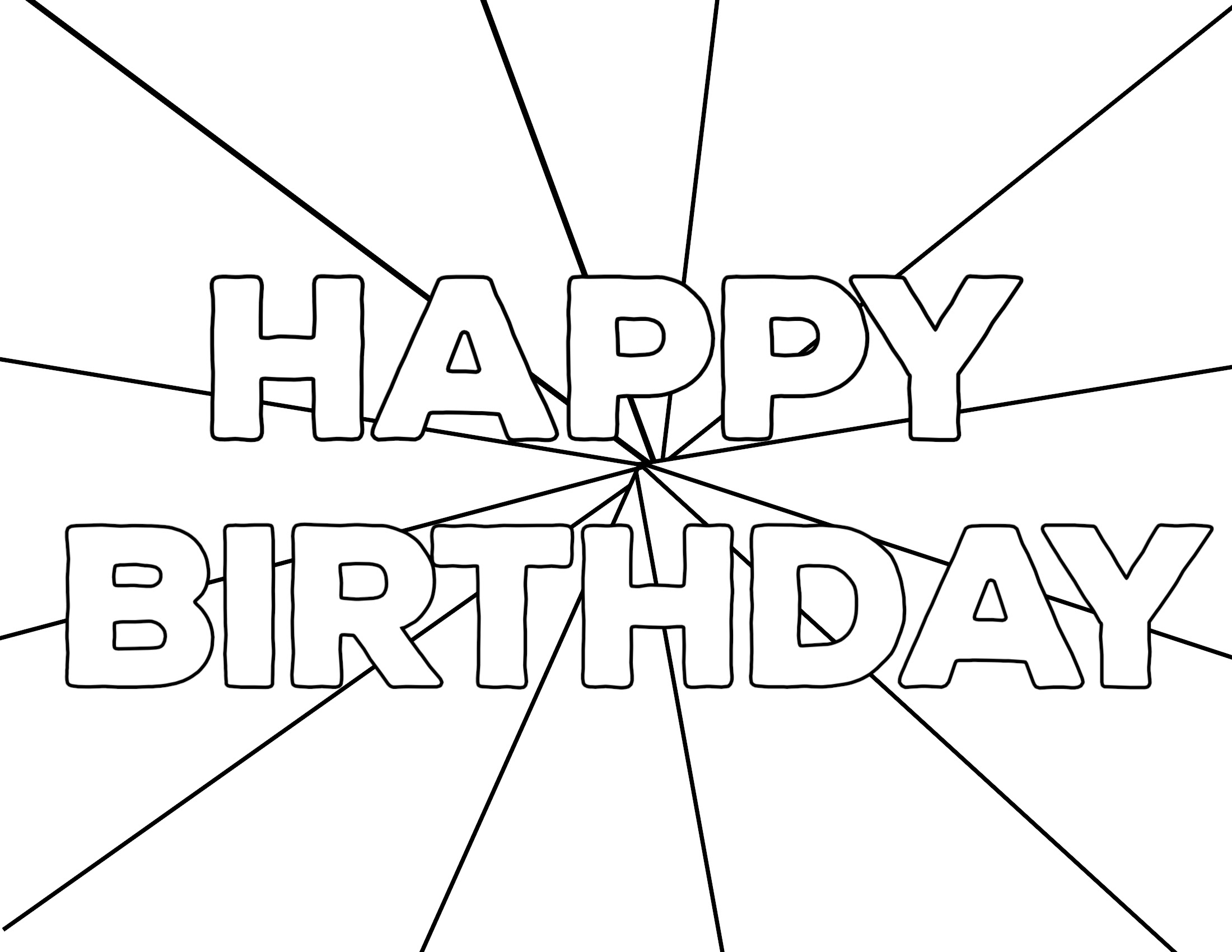 Free Printable Happy Birthday Coloring Pages - Paper Trail ...