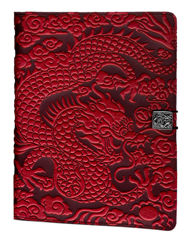 Leather iPad Covers, Cases | Cloud Dragon in Red