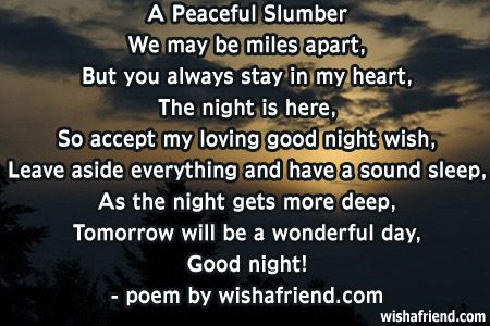 Good Night Poems For Friends Wishes And Poetry Good Night Quotes