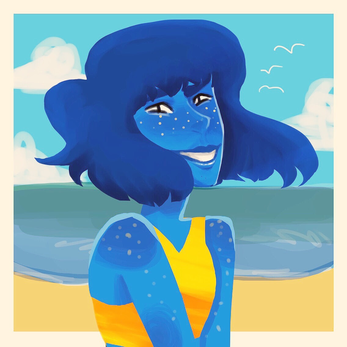 Lapis! At the beach
