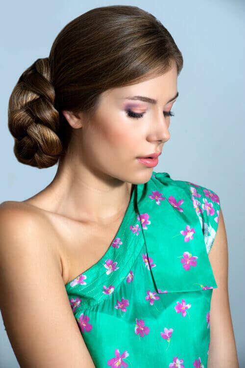 Elegant Braided Bun Hairstyle - Simple Updos