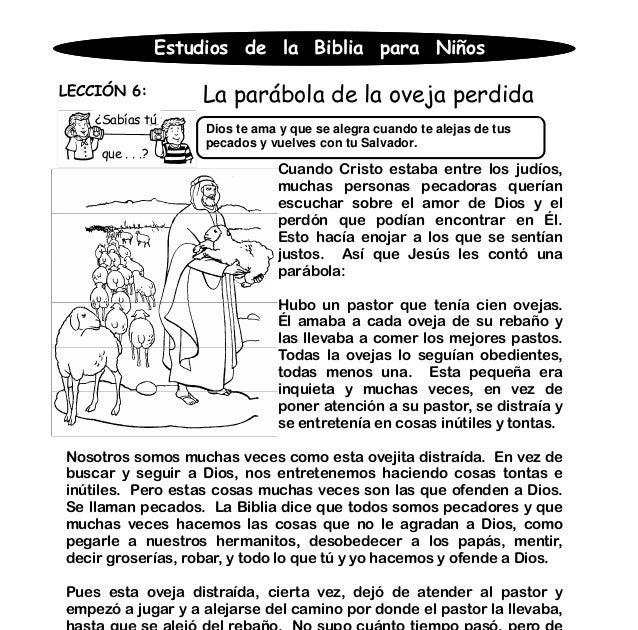 Actividades Sobre La Parabola De La Oveja Perdida Para Niños Noticias Niños