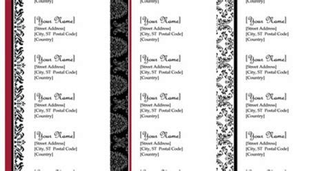 Return address labels (Black and White wedding design