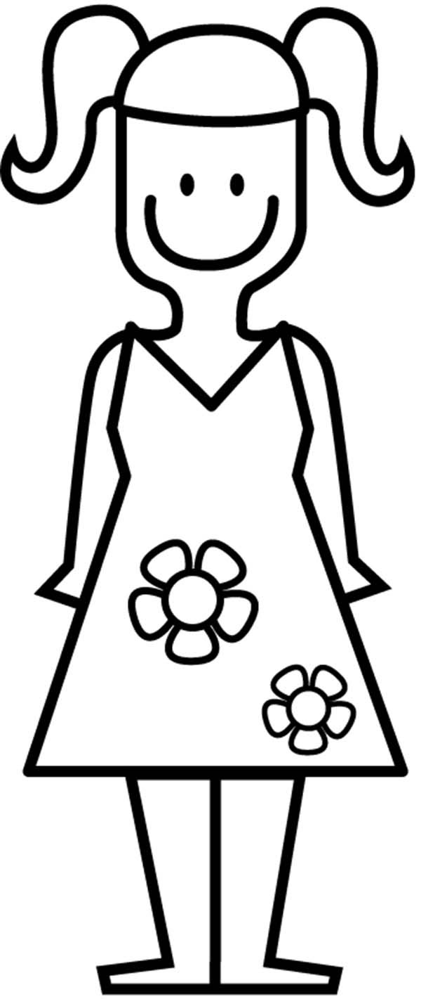 920 Top Colouring Pages Little Girl , Free HD Download