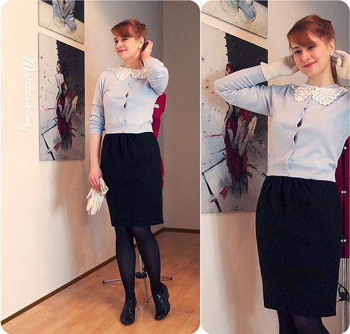 szafiarka, spódnica, Burda, szycie, zmniejszony sweter, DIY, krawiectwo