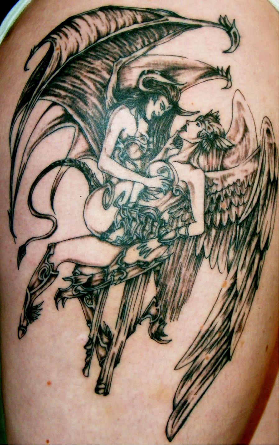 Tatos Me Popular Tattoo Design Angel Vs Demon