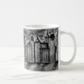 Gritty City Skyline on Coffee/Tea Mug
