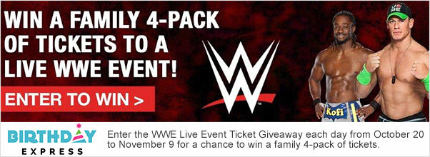 Birthday Express WWE Giveaway
