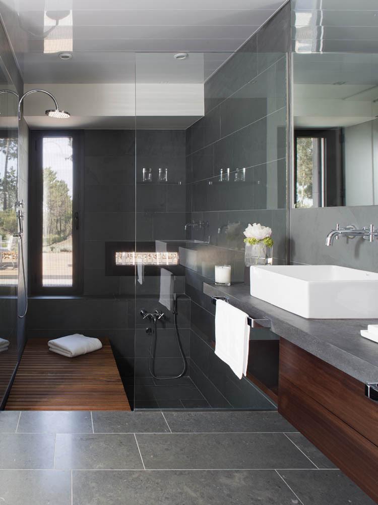 Design Inspiration: Modern Bathroom + Dark Gray - Studio ...