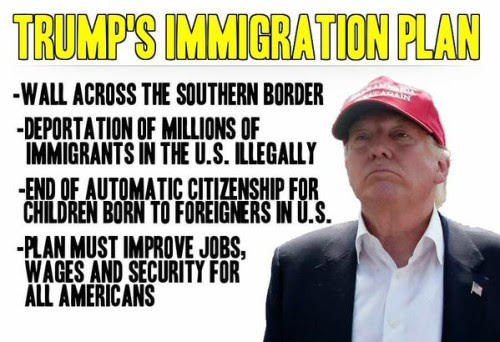Image result for Donald Trump On Immigration