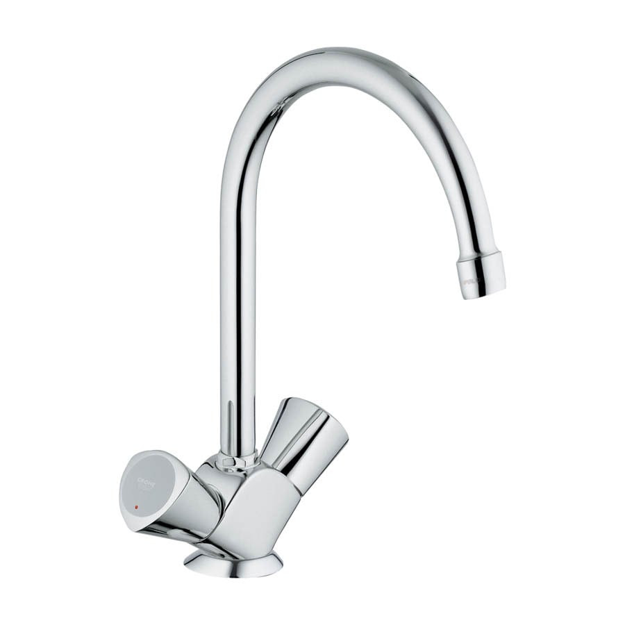 Shop GROHE Classic Ll Starlight Chrome 2-Handle High-Arc Kitchen Faucet at Lowes.com