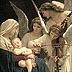 Angeles cantan al Niño en brazos de María