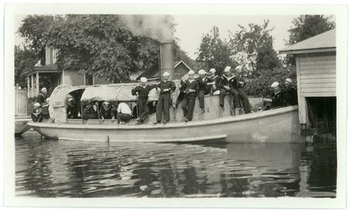 16 men on a boat