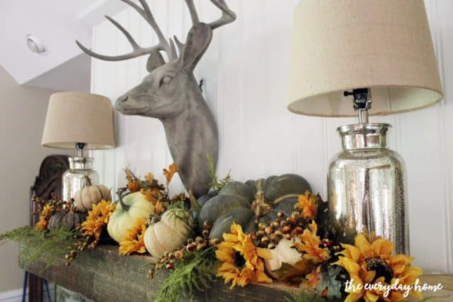 Rustic Fall Mantel from The Everyday Home
