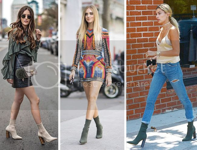 How to wear sock boots, sock boots street style trend