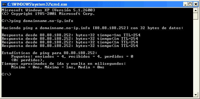 Figura 22. Ping al nombre DNS que hemos creado, para comprobar que funciona