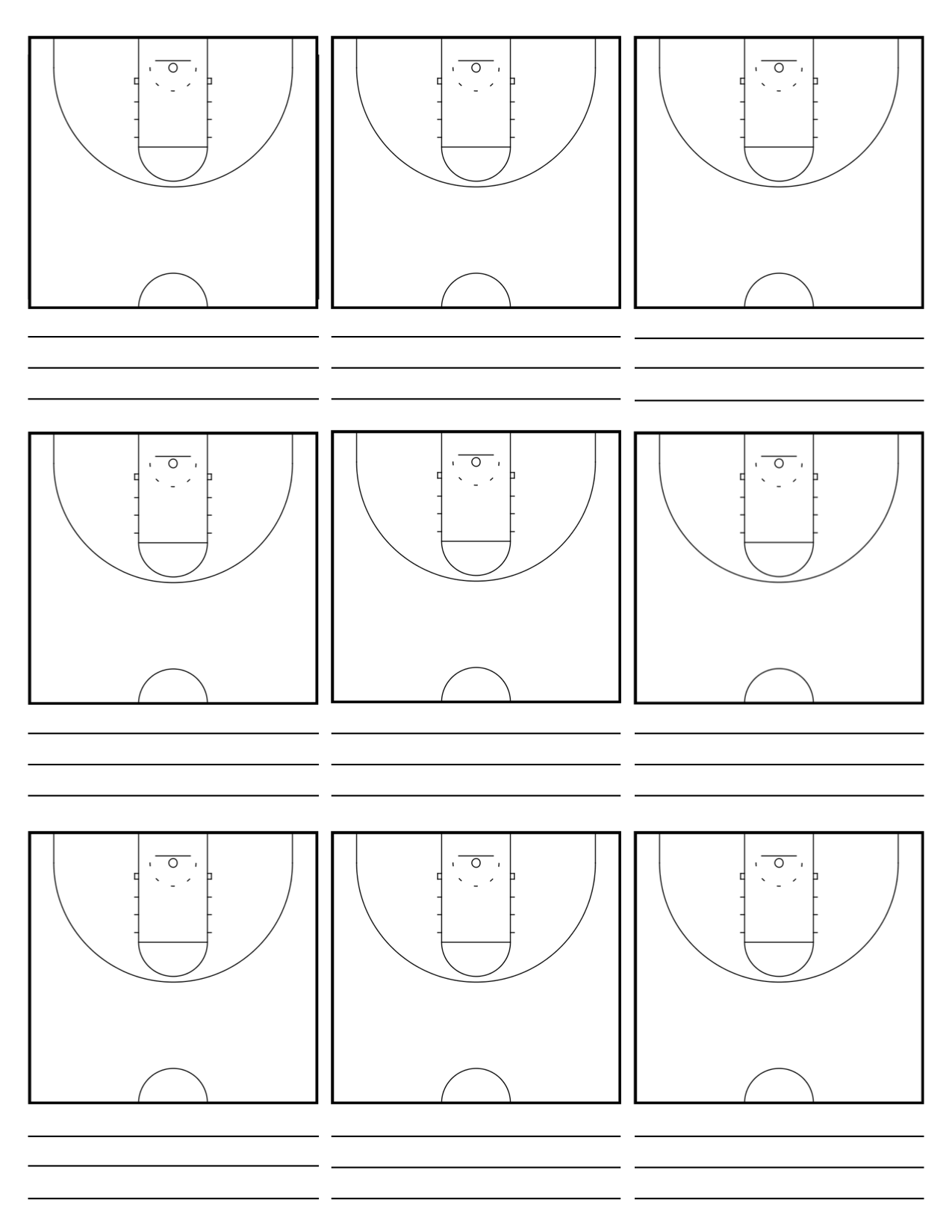 View 39 Basketball Court Diagrams With Notes