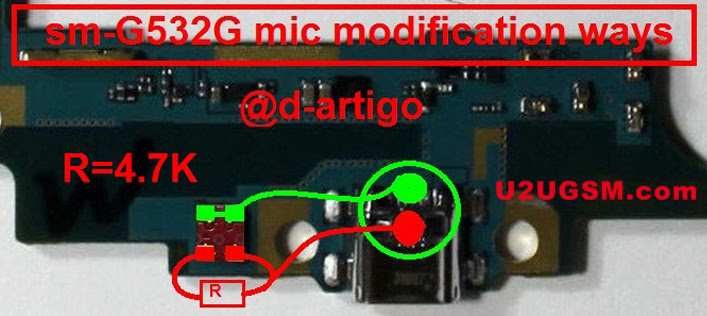 Use Two Point Mic modification in Samsung Galaxy J2 Prime G532G instead of four Points