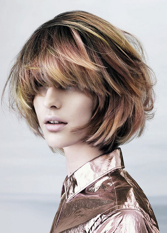 Pictures Best Short  Haircuts  for Round  Faces  Layered