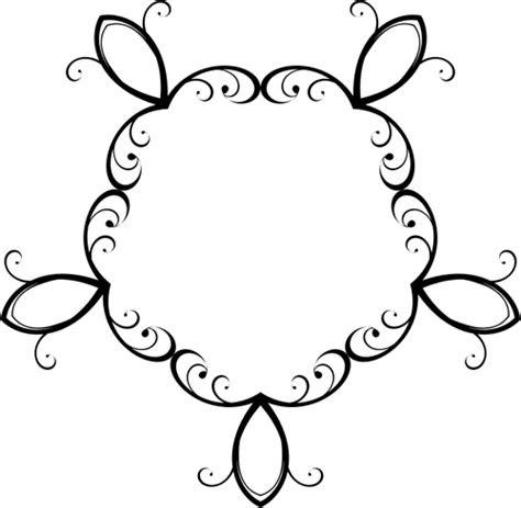 hiasan bunga hitam domain publik vektor