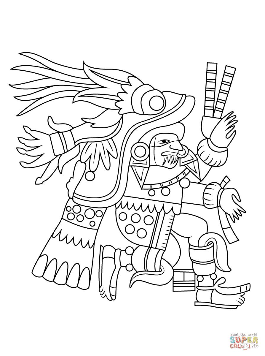 Dibujo De Chantico Diosa Azteca Del Fuego Para Colorear Dibujos