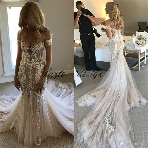 Pallas Couture Champagne Mermaid Wedding Dresses 2018