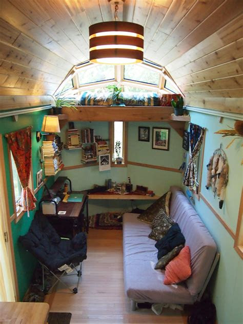 tiny house   skylight sleeping loft built