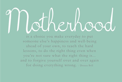Mothehood Is A Choice You Make Everybody To Put Someones Elses