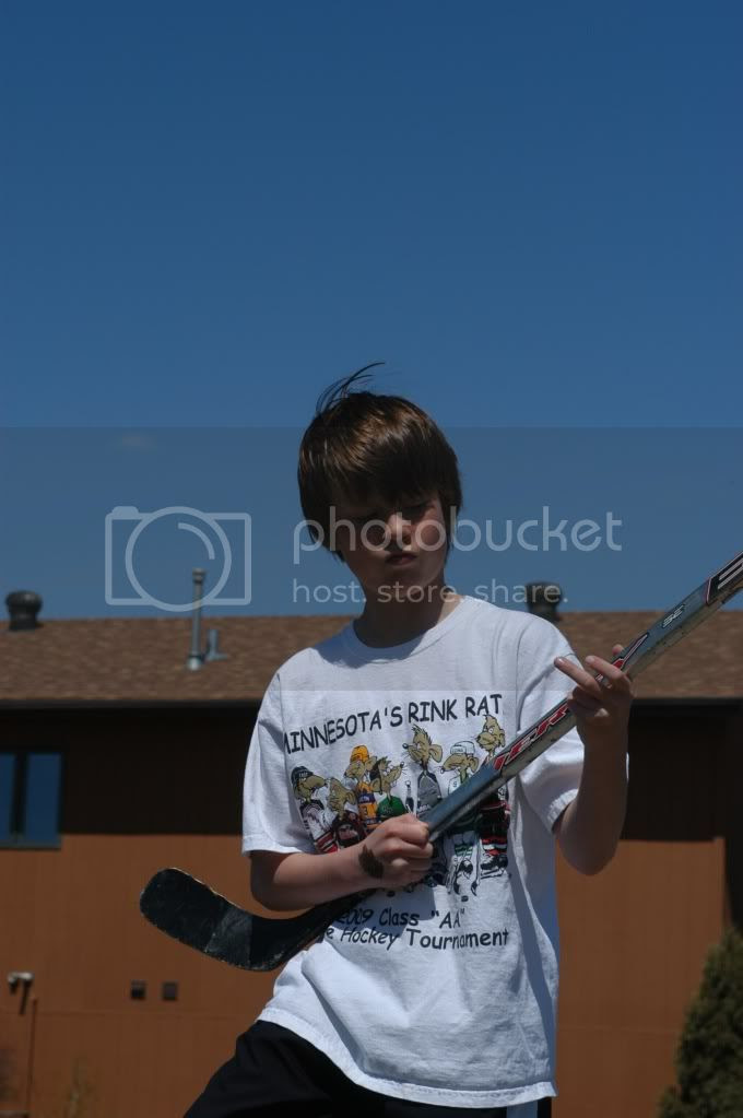 Air hockey-stick guitar